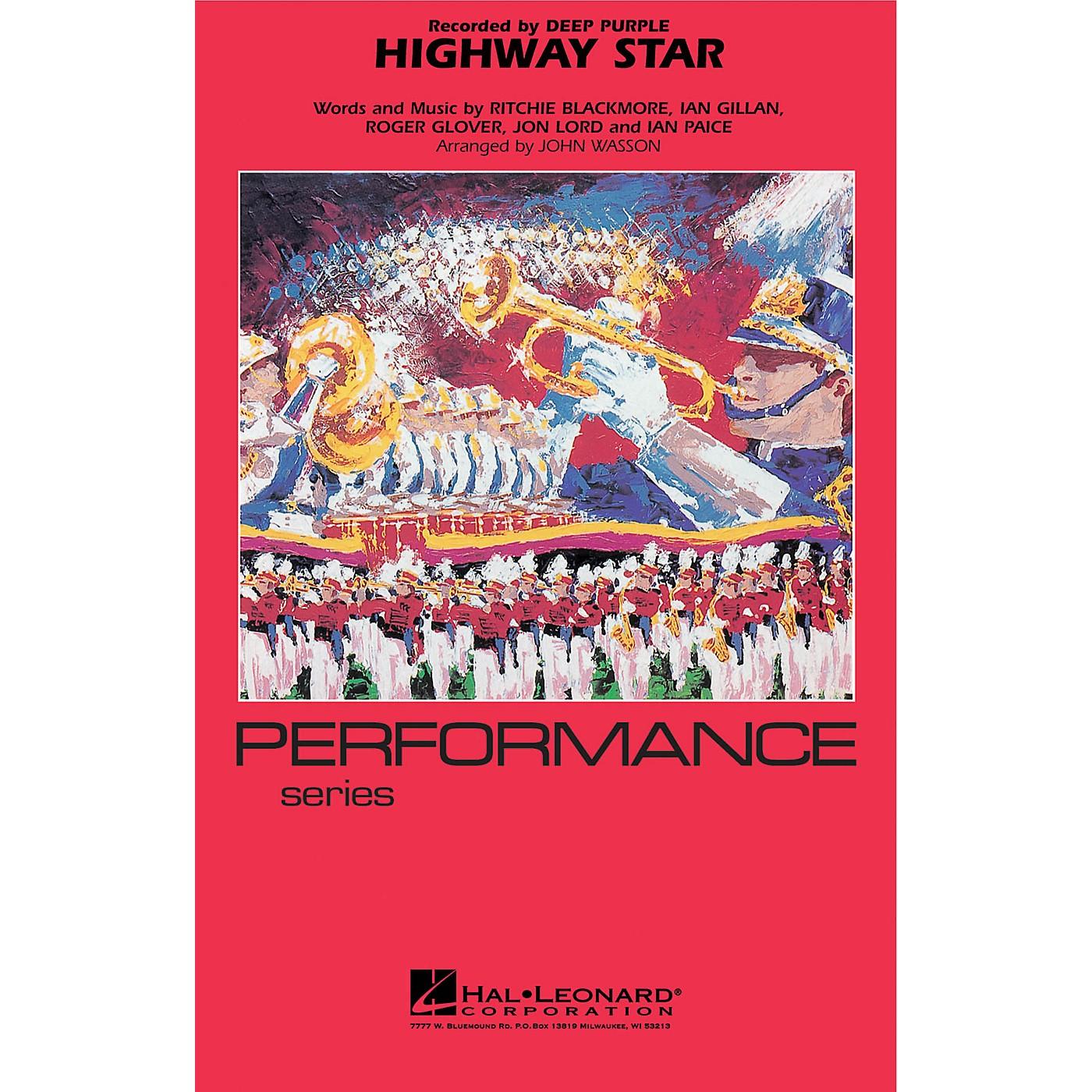 Hal Leonard Highway Star Marching Band Level 4 Arranged by John Wasson thumbnail