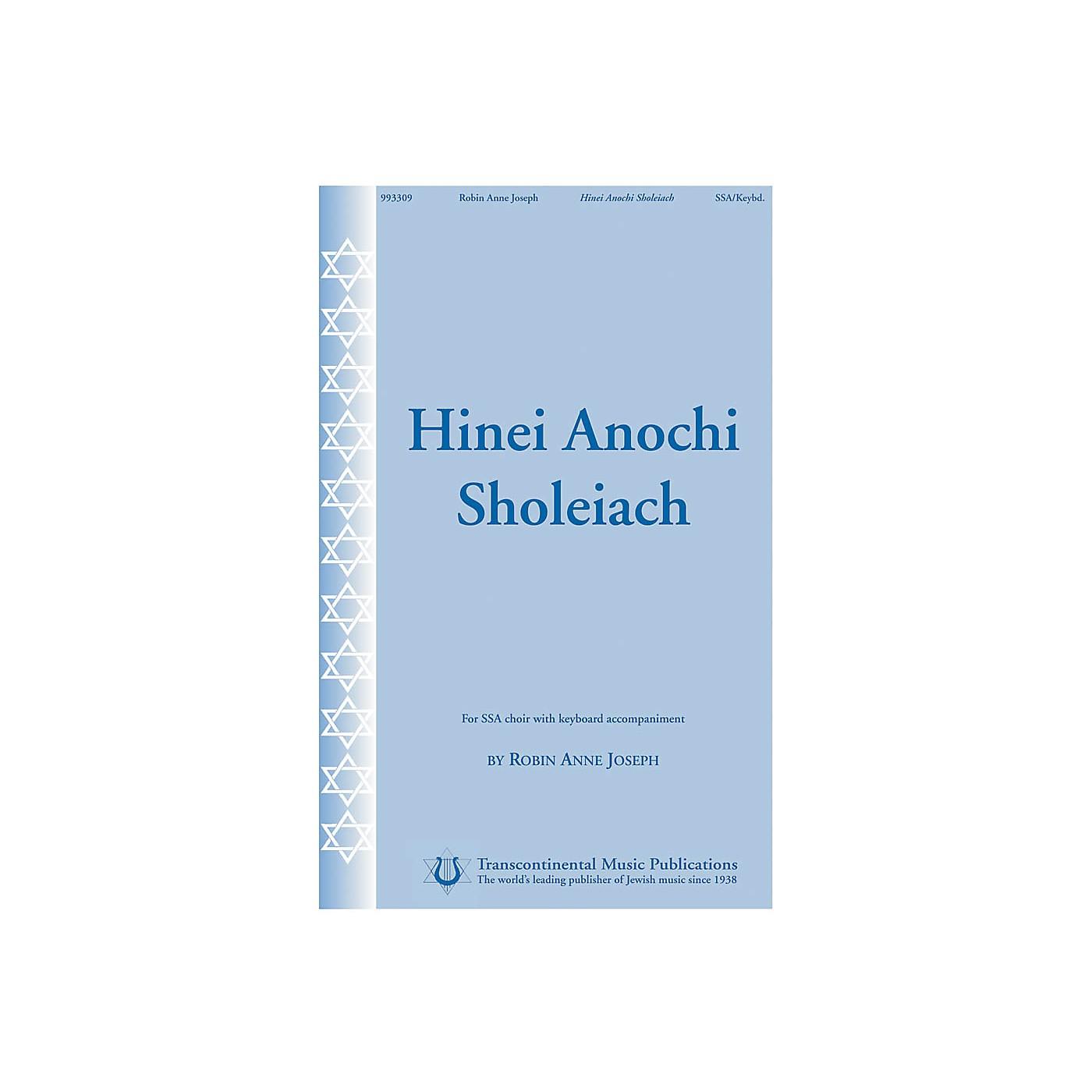 Transcontinental Music Hinei Anochi Sholeiach SSA composed by Anne Joseph thumbnail