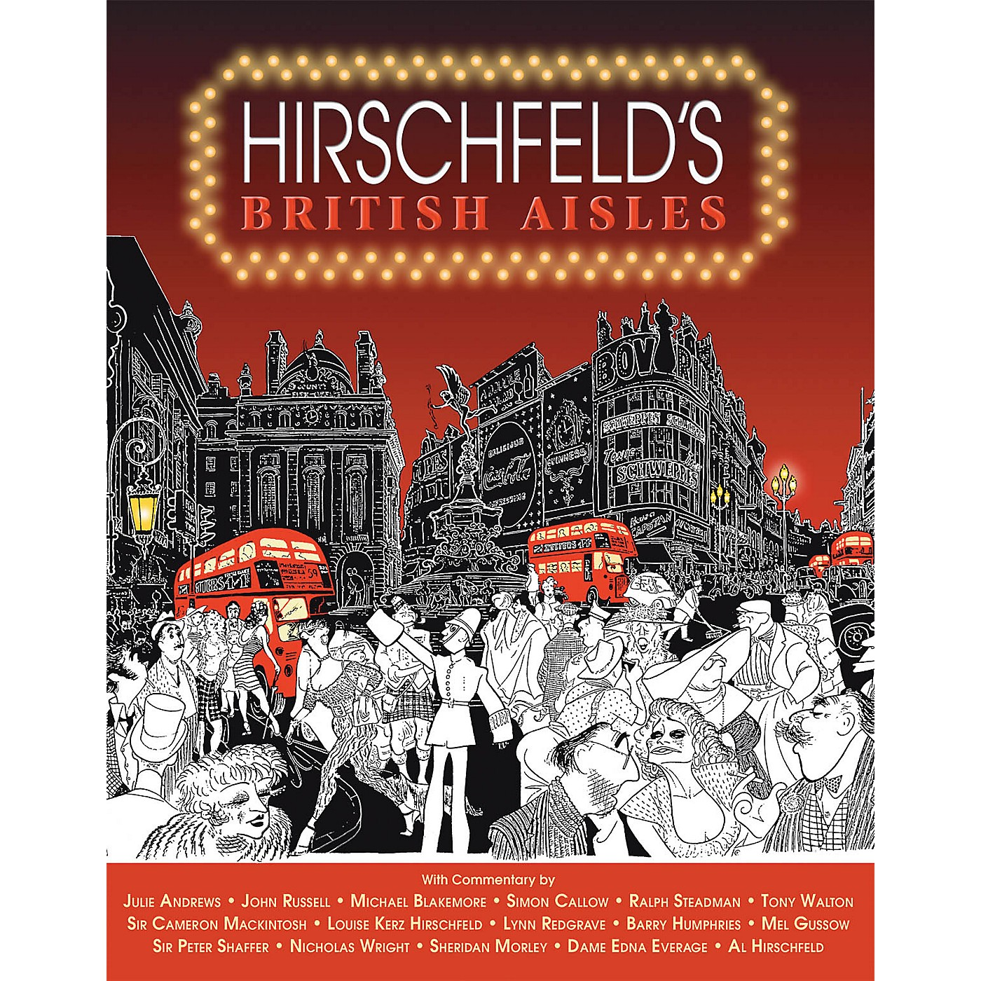 Glenn Young Books/Applause Hirschfeld's British Aisles Applause Books Series Softcover Written by Al Hirschfeld thumbnail