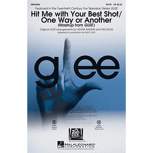 Hal Leonard Hit Me With Your Best Shot/One Way or Another (from Glee) SATB by Pat Benatar arranged by Adam Anders thumbnail
