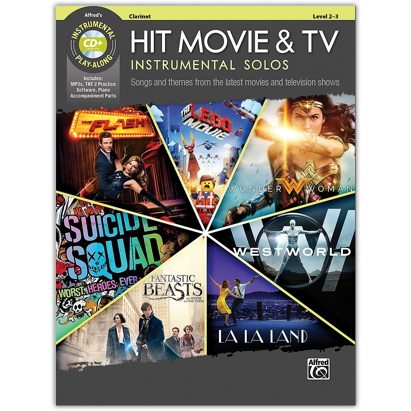 Alfred Hit Movie & TV Instrumental Solos Clarinet Book & CD Level 2-3 thumbnail
