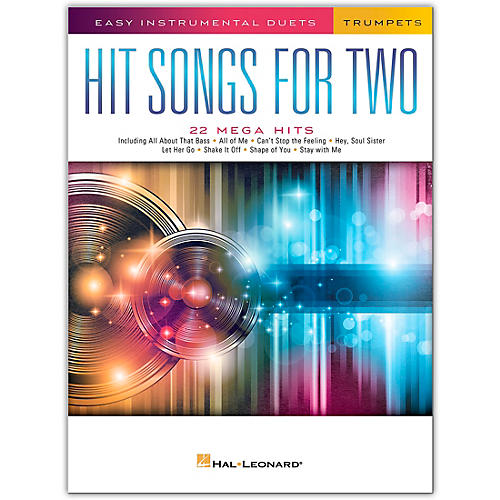 Hal Leonard Hit Songs for Two Trumpets - Easy Instrumental Duets thumbnail