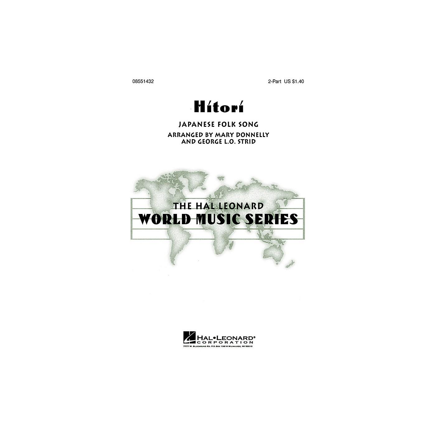 Hal Leonard Hitori 2-Part arranged by George L.O. Strid thumbnail