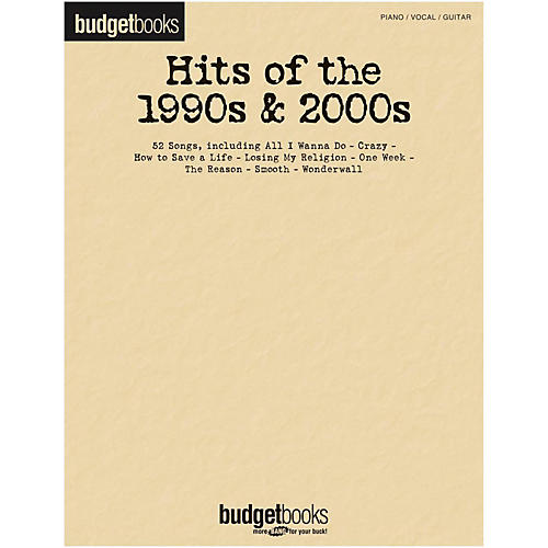 Hal Leonard Hits Of The 1990s & 2000s - Budget Book for Piano/Vocal/Guitar thumbnail