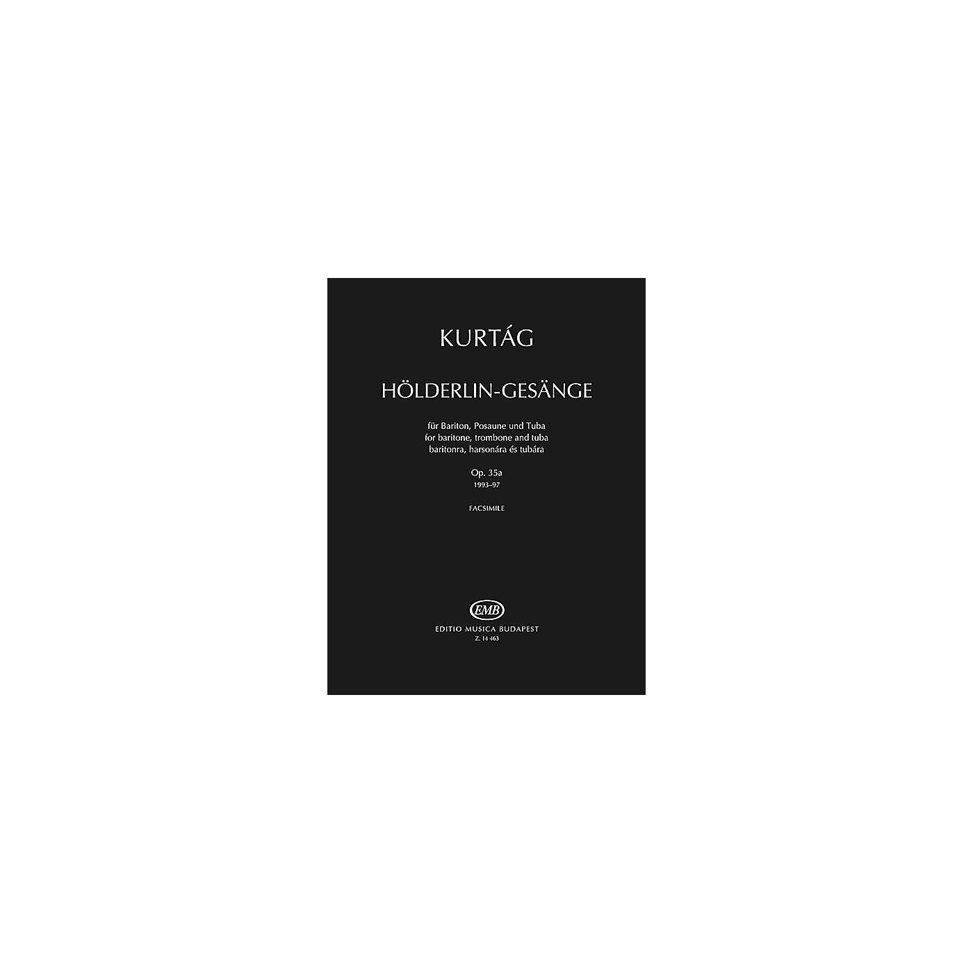 Editio Musica Budapest Hölderlin-Gesänge, Op. 35a EMB Series  by György Kurtág thumbnail