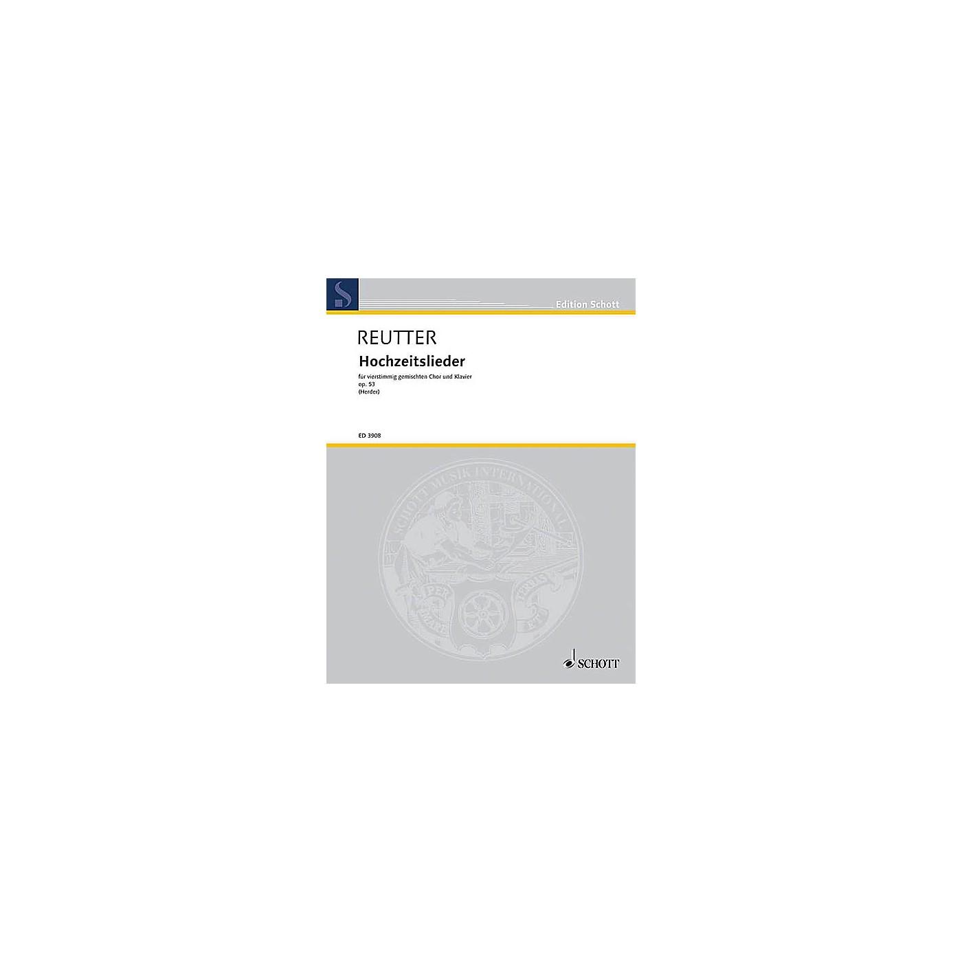 Schott Hochzeitslieder aus Stimmen der Völker, op. 53 SATB Composed by Hermann Reutter thumbnail