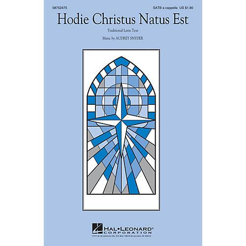 Hal Leonard Hodie Christus Natus Est SATB composed by Audrey Snyder thumbnail