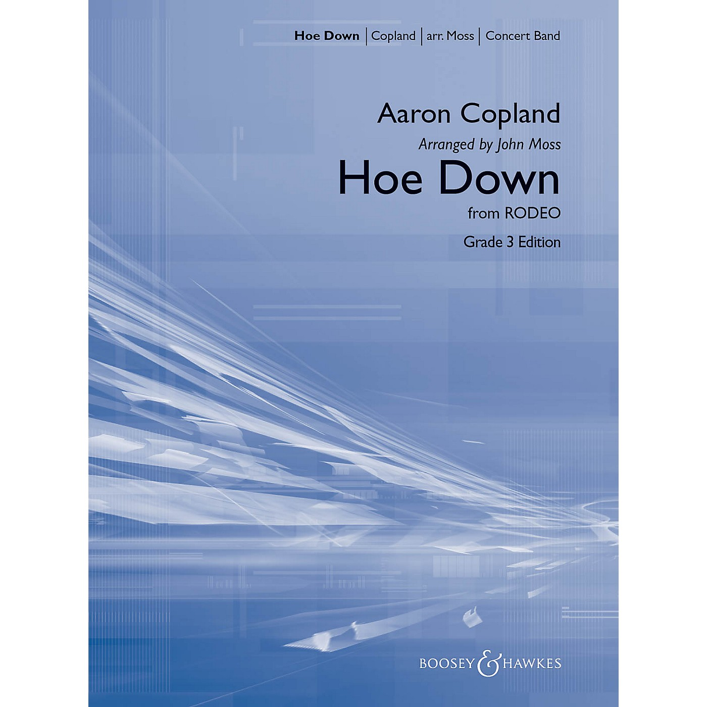 Boosey and Hawkes Hoe Down (from Rodeo) Concert Band Level 3 Composed by Aaron Copland Arranged by John Moss thumbnail