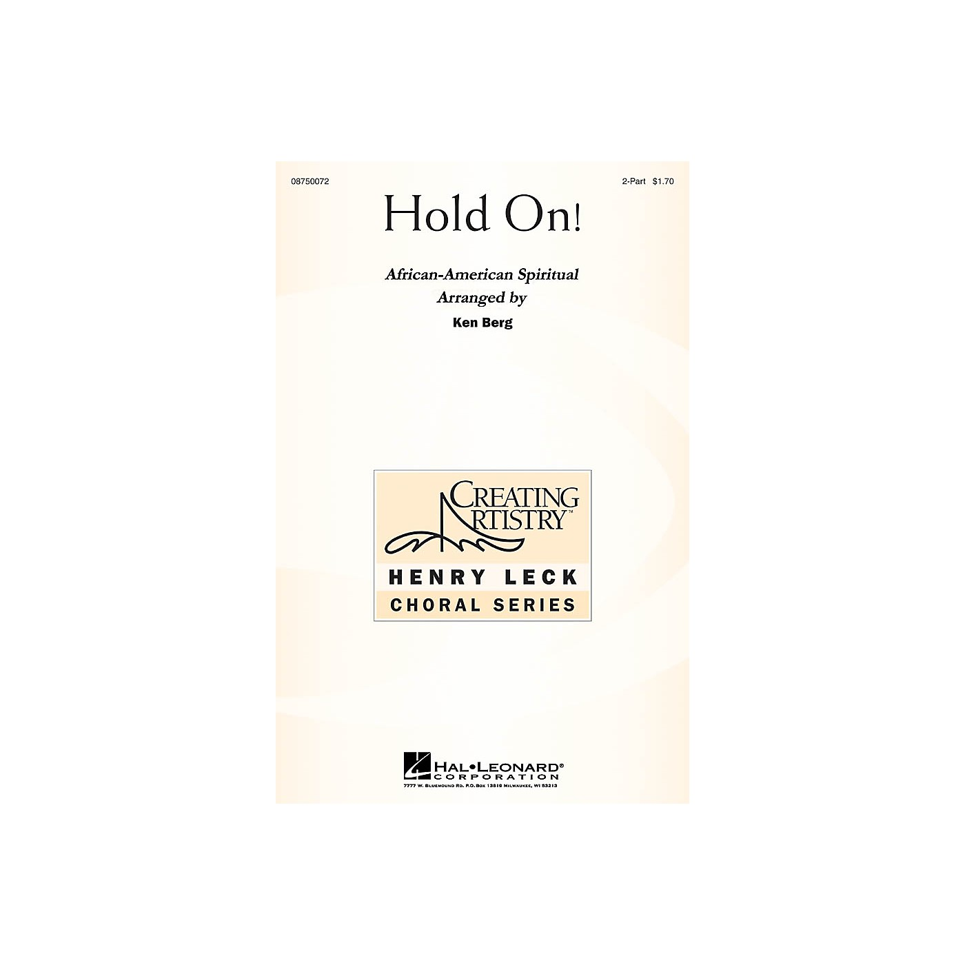 Hal Leonard Hold On! 2-Part arranged by Ken Berg thumbnail