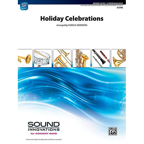 Alfred Holiday Celebrations Concert Band Grade 2 (Easy) thumbnail