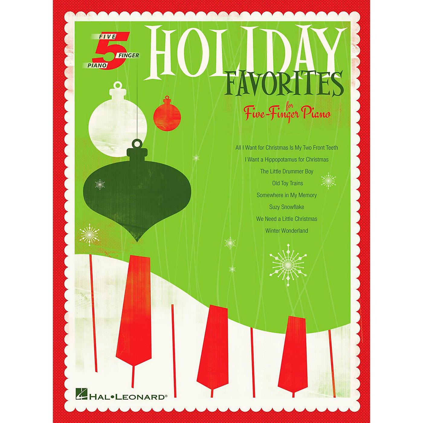 Hal Leonard Holiday Favorites For Five-Finger Piano thumbnail