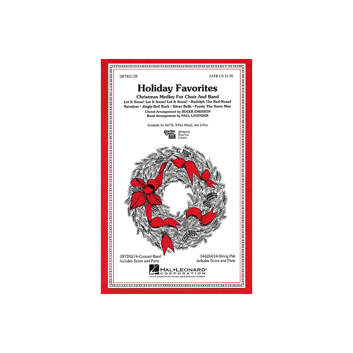 Hal Leonard Holiday Favorites (Medley) 2-Part Arranged by Roger Emerson thumbnail