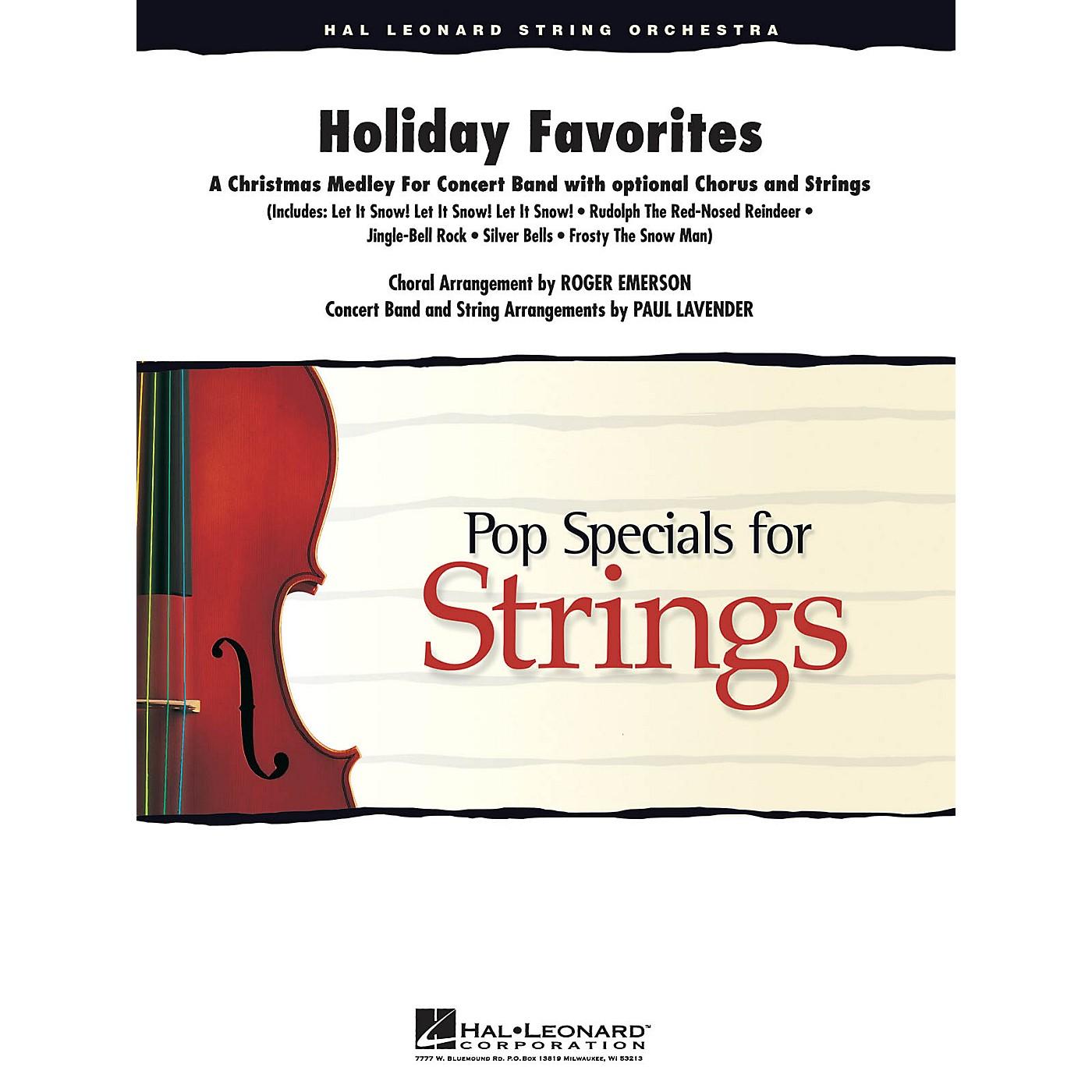 Hal Leonard Holiday Favorites (Medley) Score & Parts Arranged by Paul Lavender thumbnail