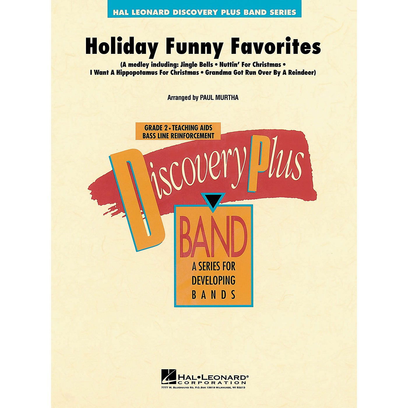 Hal Leonard Holiday Funny Favorites - Discovery Plus Concert Band Series Level 2 arranged by Paul Murtha thumbnail