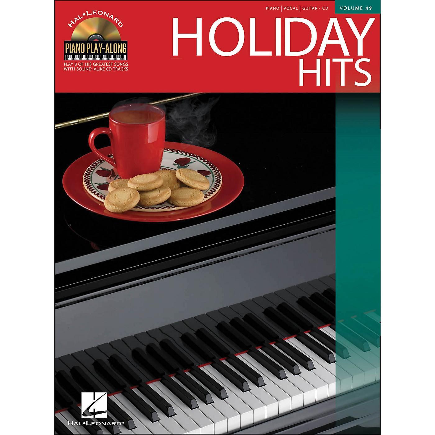 Hal Leonard Holiday Hits Volume 49 Book/CD Piano Play-Along arranged for piano, vocal, and guitar (P/V/G) thumbnail