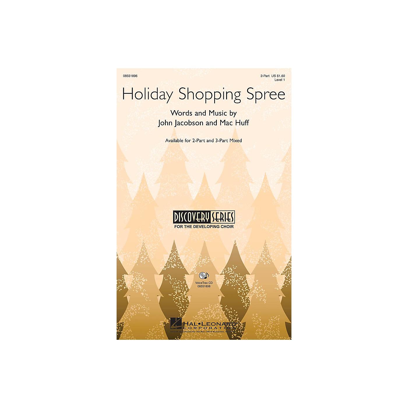 Hal Leonard Holiday Shopping Spree VoiceTrax CD Composed by John Jacobson, Mac Huff thumbnail