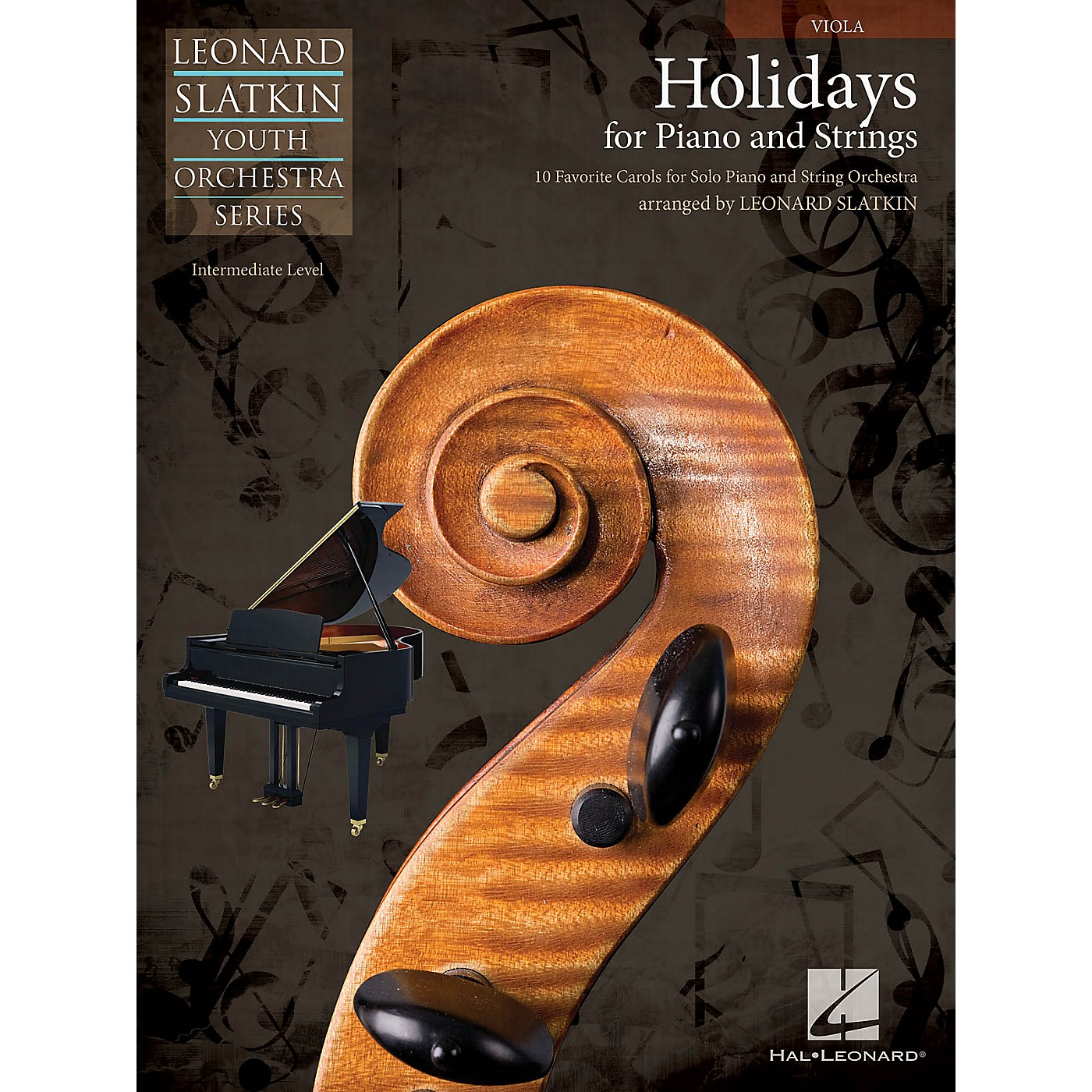 Hal Leonard Holidays for Piano and Strings (Volume 1 - Viola) Easy Music For Strings Series by Leonard Slatkin thumbnail