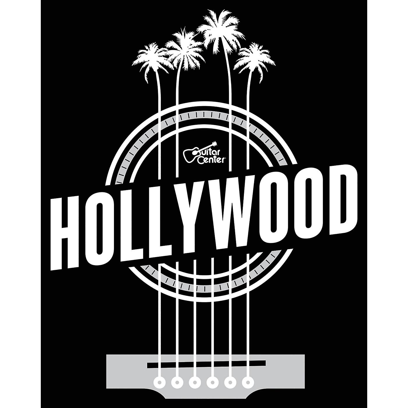Guitar Center Hollywood Palm Strings - Black/White Magnet thumbnail