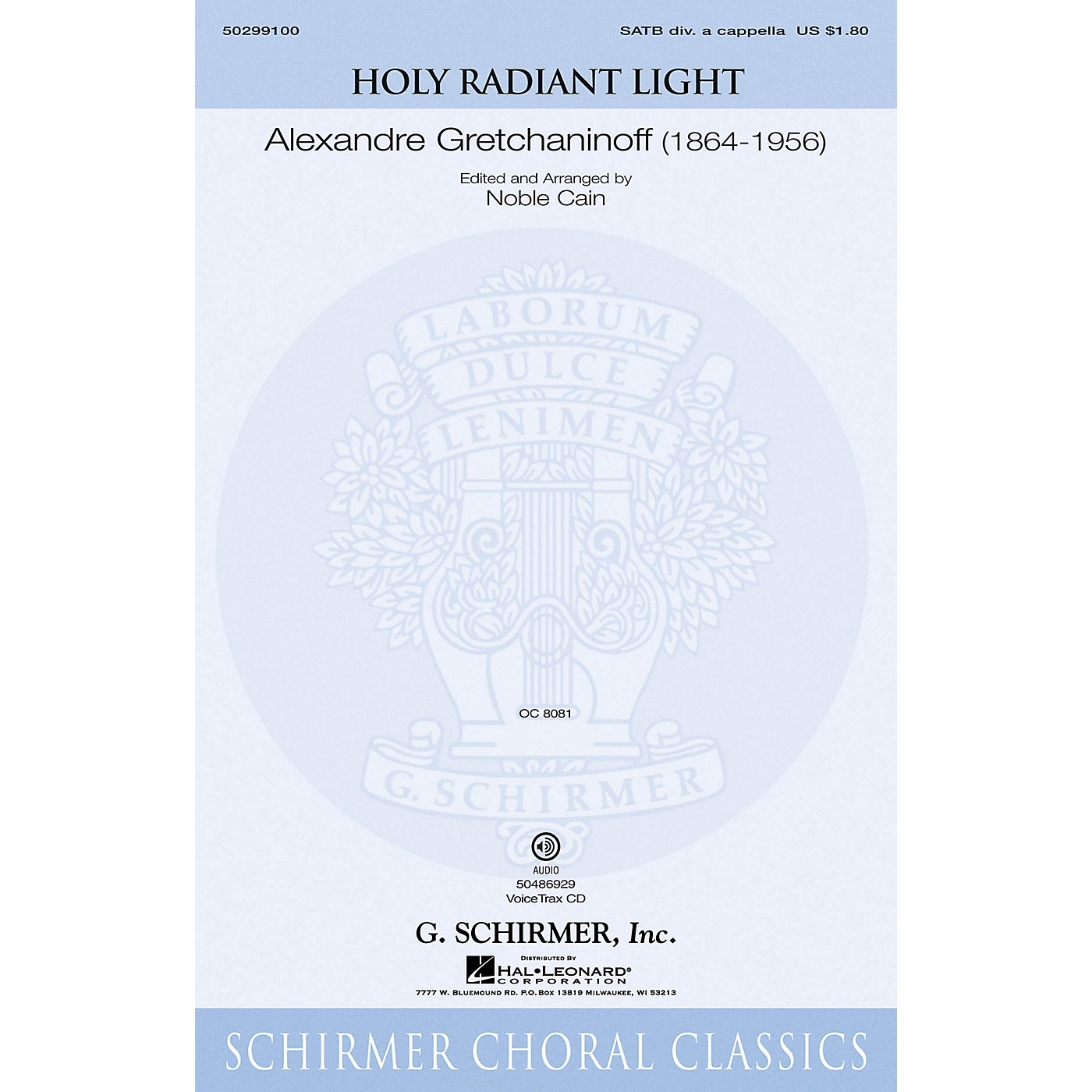 G. Schirmer Holy Radiant Light VoiceTrax CD Composed by Alexandre Gretchaninoff thumbnail