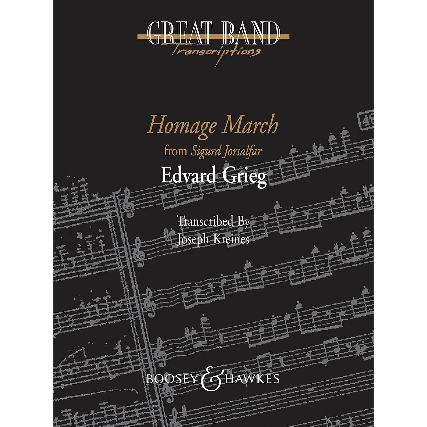 Boosey and Hawkes Homage March Concert Band Level 5 Composed by Edvard Grieg Arranged by Joseph Kreines thumbnail