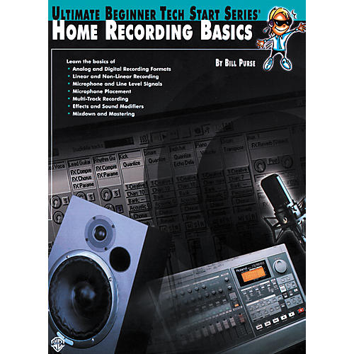 Alfred Home Recording Basics Book thumbnail