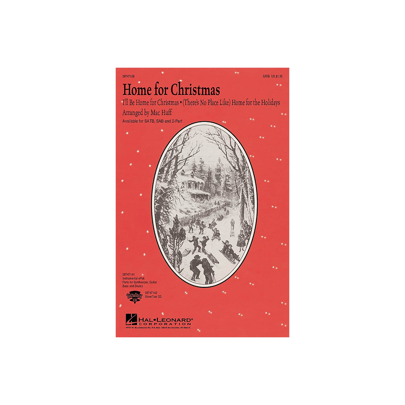 Hal Leonard Home for Christmas (Medley) 2-Part Arranged by Mac Huff thumbnail