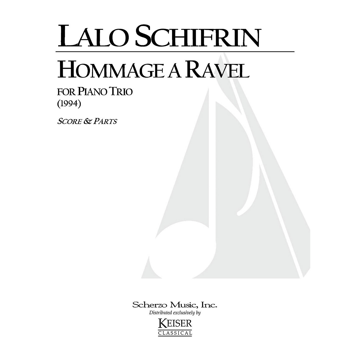 Lauren Keiser Music Publishing Hommage a Ravel (Piano, Violin, Cello) LKM Music Series Composed by Lalo Schifrin thumbnail