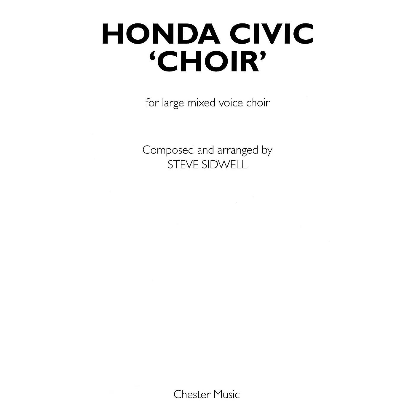 Chester Music Honda Civic Choir (Large Mixed Voice Choir) SATB Composed by Steve Sidwell thumbnail