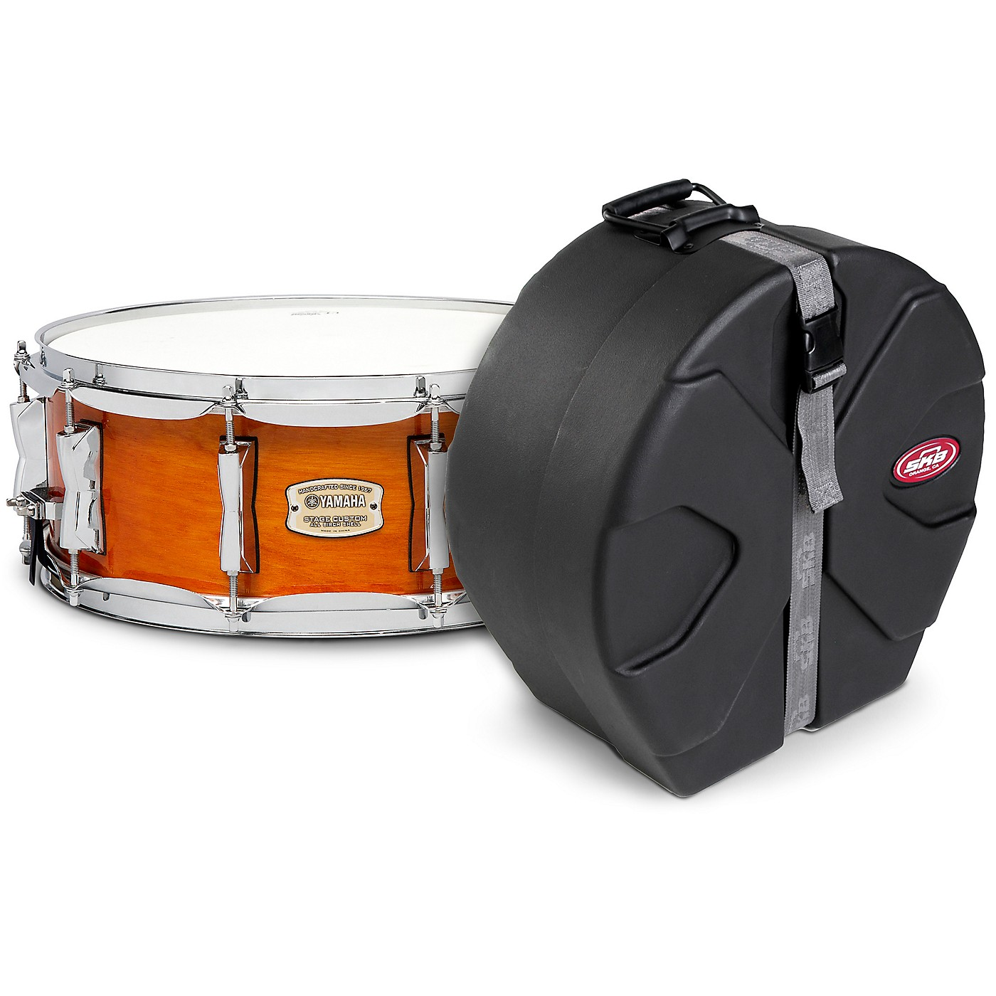 Yamaha Honey Amber Stage Custom Birch Snare with SKB Case thumbnail