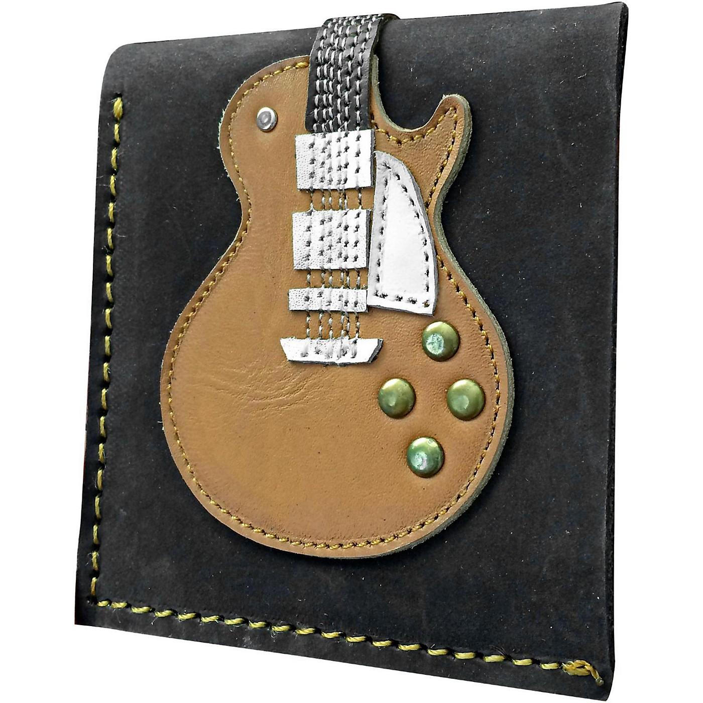 Axe Heaven Honey Burst Single Cutaway Electric Guitar Wallet - Handmade - Genuine Leather thumbnail