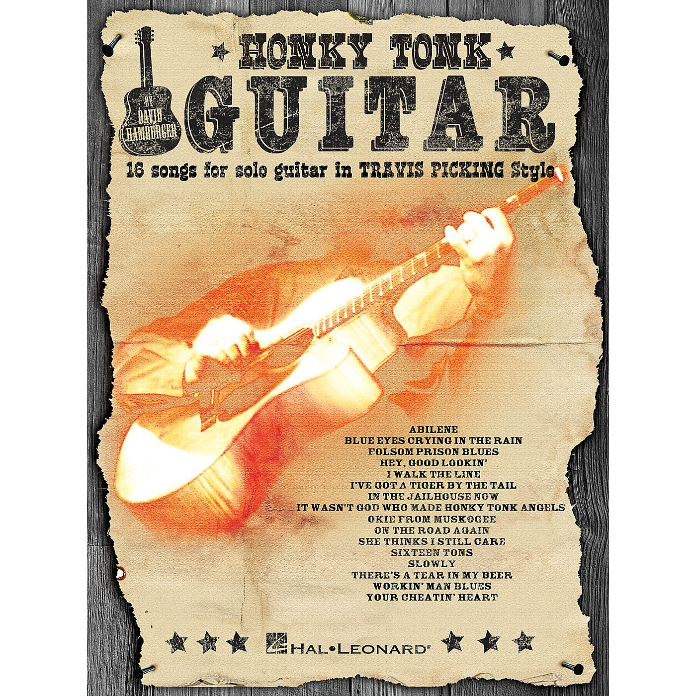 Hal Leonard Honky Tonk Guitar (16 Songs for Solo Guitar in Travis Picking Style) Guitar Solo Series Softcover thumbnail