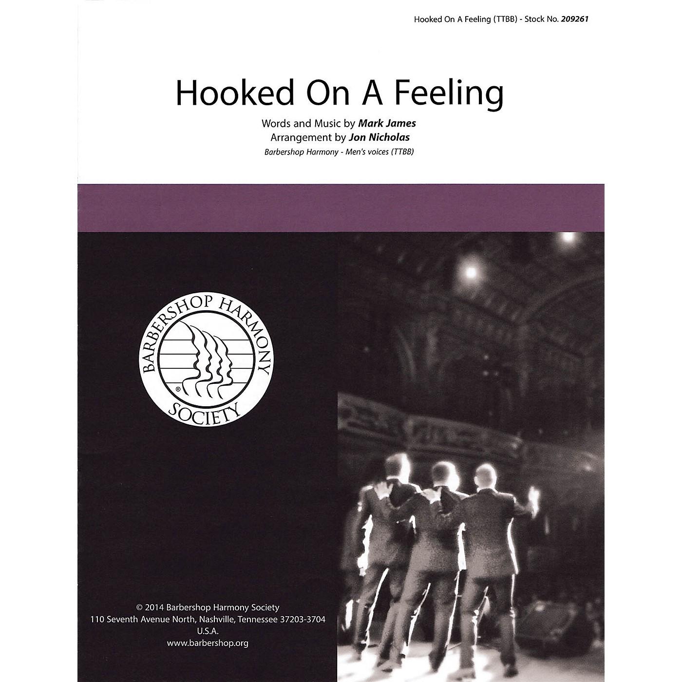 Hal Leonard Hooked on a Feeling TTBB A Cappella arranged by Jon Nicholas thumbnail