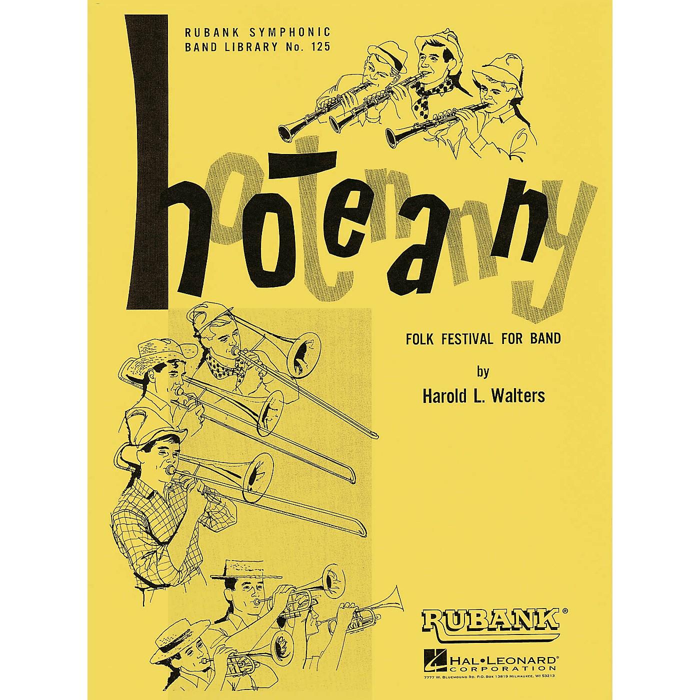 Rubank Publications Hootenanny (Folk Festival for Band) Concert Band Level 3-4 Arranged by Harold L. Walters thumbnail