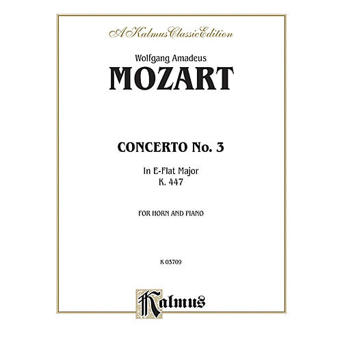 Alfred Horn Concerto No. 3 in E-Flat Major K. 447 for French Horn By Wolfgang Amadeus Mozart Book thumbnail