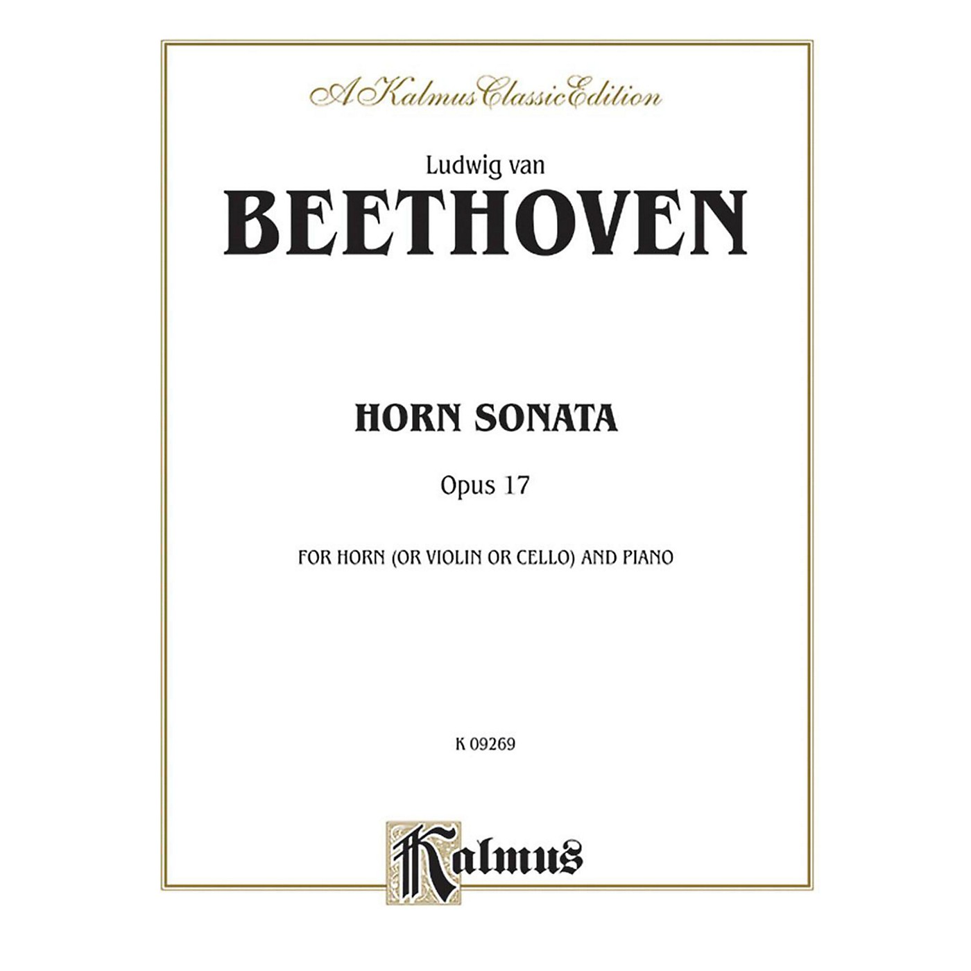 Alfred Horn Sonata Op. 17 for French Horn By Ludwig van Beethoven Book thumbnail