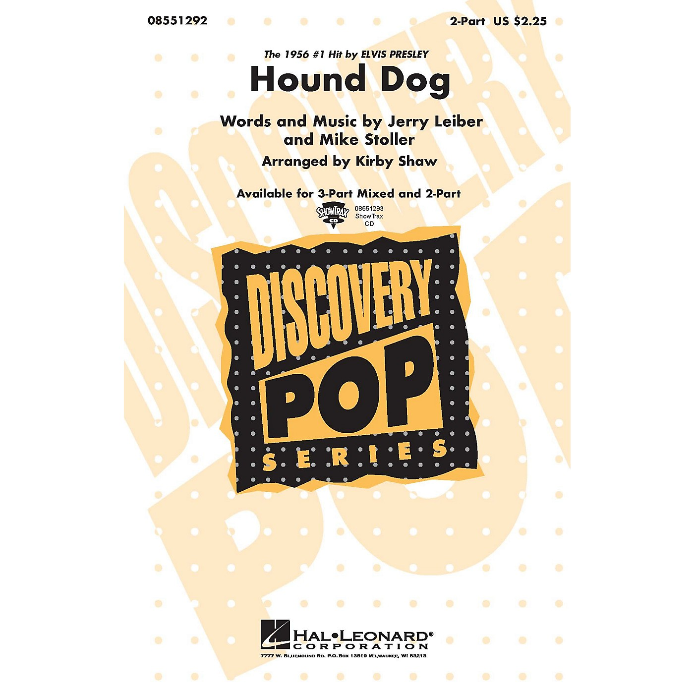 Hal Leonard Hound Dog 3-Part Mixed by Elvis Presley Arranged by Kirby Shaw thumbnail