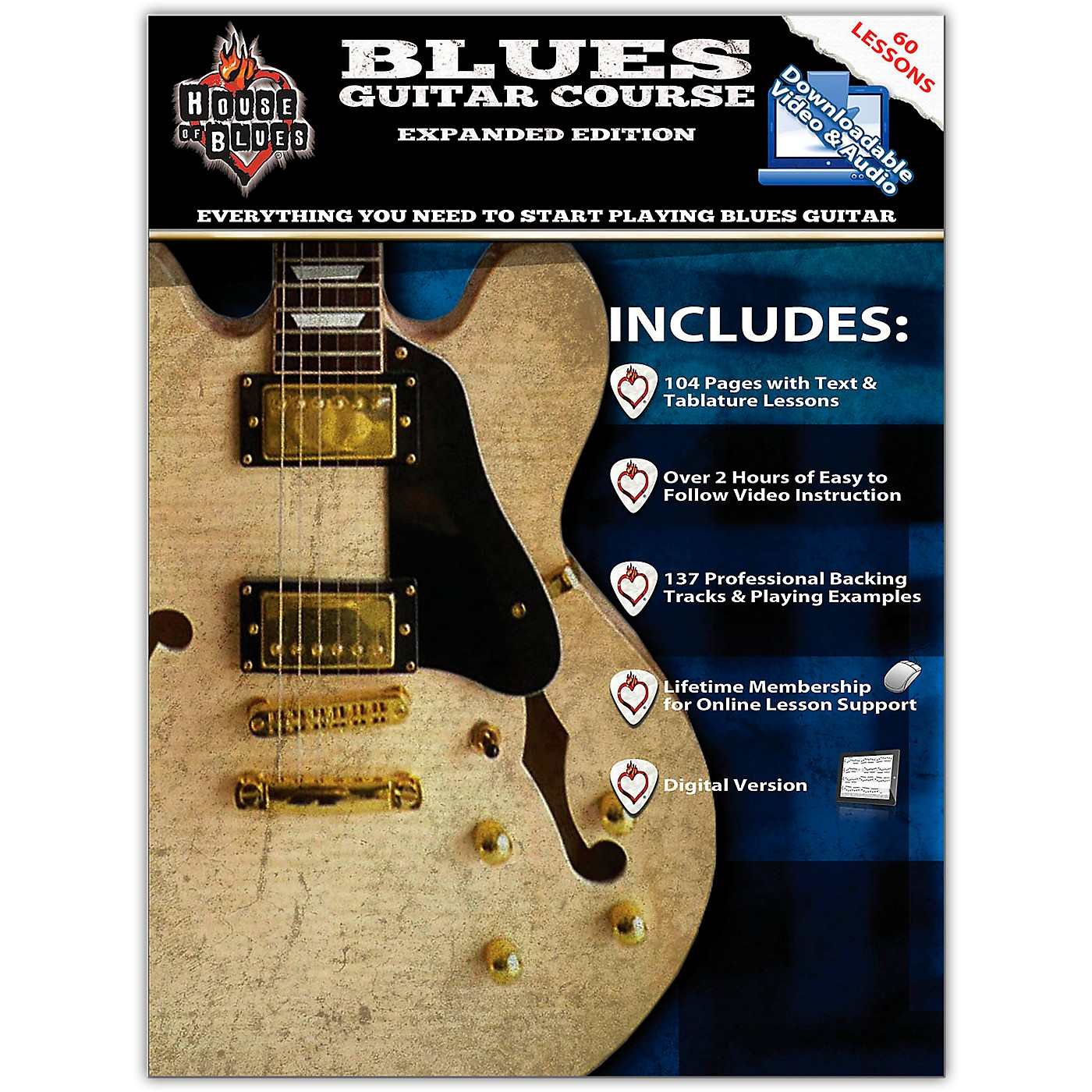 Hal Leonard House Of Blues - Blues Guitar Course Expanded Edition Book/Online Audio thumbnail