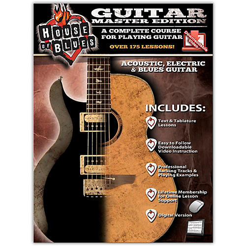 Rock House House of Blues Guitar Master Edition Book/Online Audio & Video thumbnail