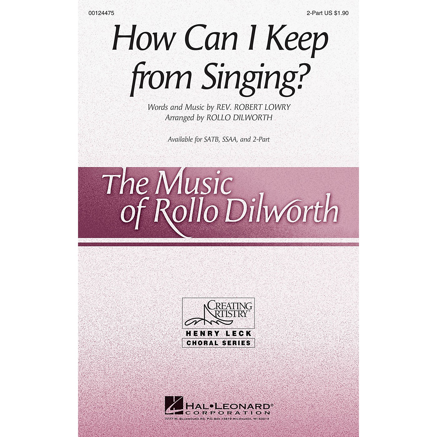 Hal Leonard How Can I Keep from Singing? 2-Part arranged by Rollo Dilworth thumbnail