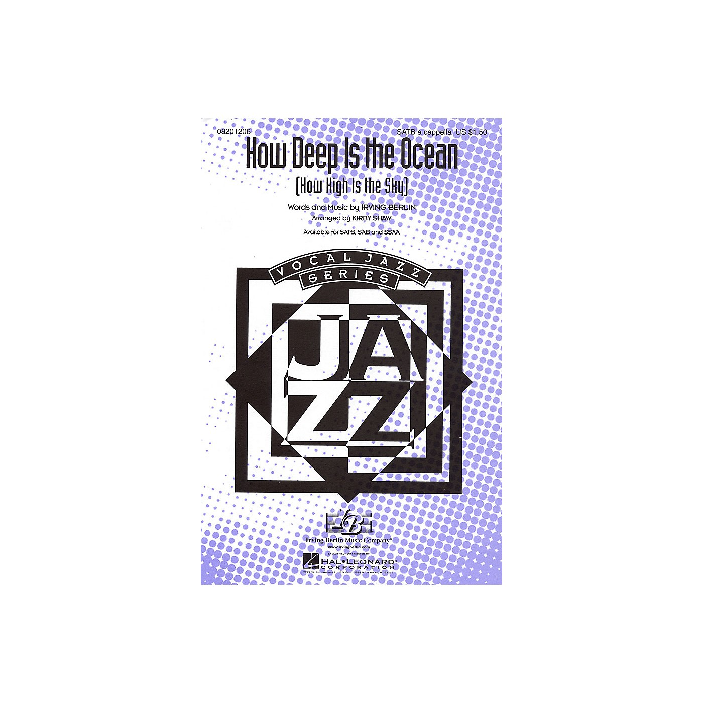 Hal Leonard How Deep Is the Ocean (How High Is the Sky?) SSAA A Cappella Arranged by Kirby Shaw thumbnail