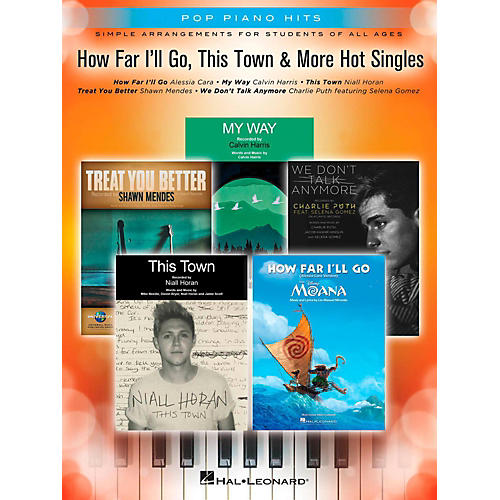 Hal Leonard How Far I'll Go, This Town & More Hot Singles - Pop Piano Hits Series thumbnail