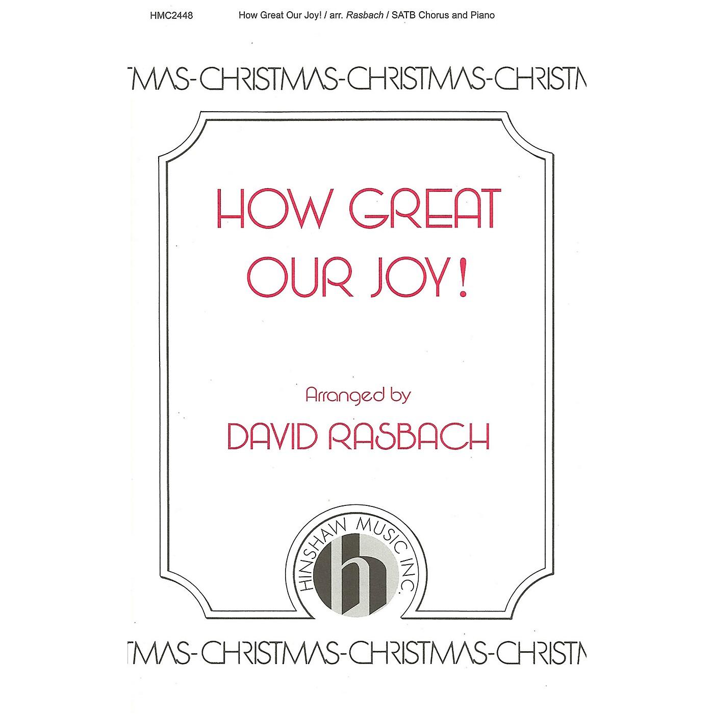 Hinshaw Music How Great Our Joy SATB arranged by David Rasbach thumbnail