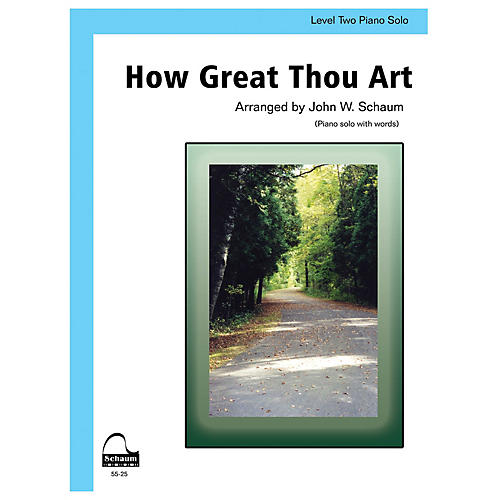 SCHAUM How Great Thou Art Educational Piano Series Softcover thumbnail