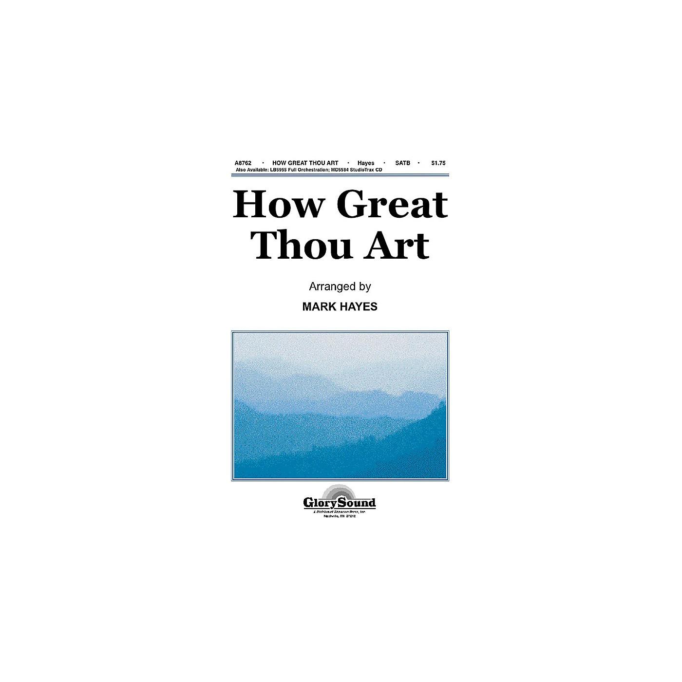Shawnee Press How Great Thou Art SATB arranged by Mark Hayes thumbnail