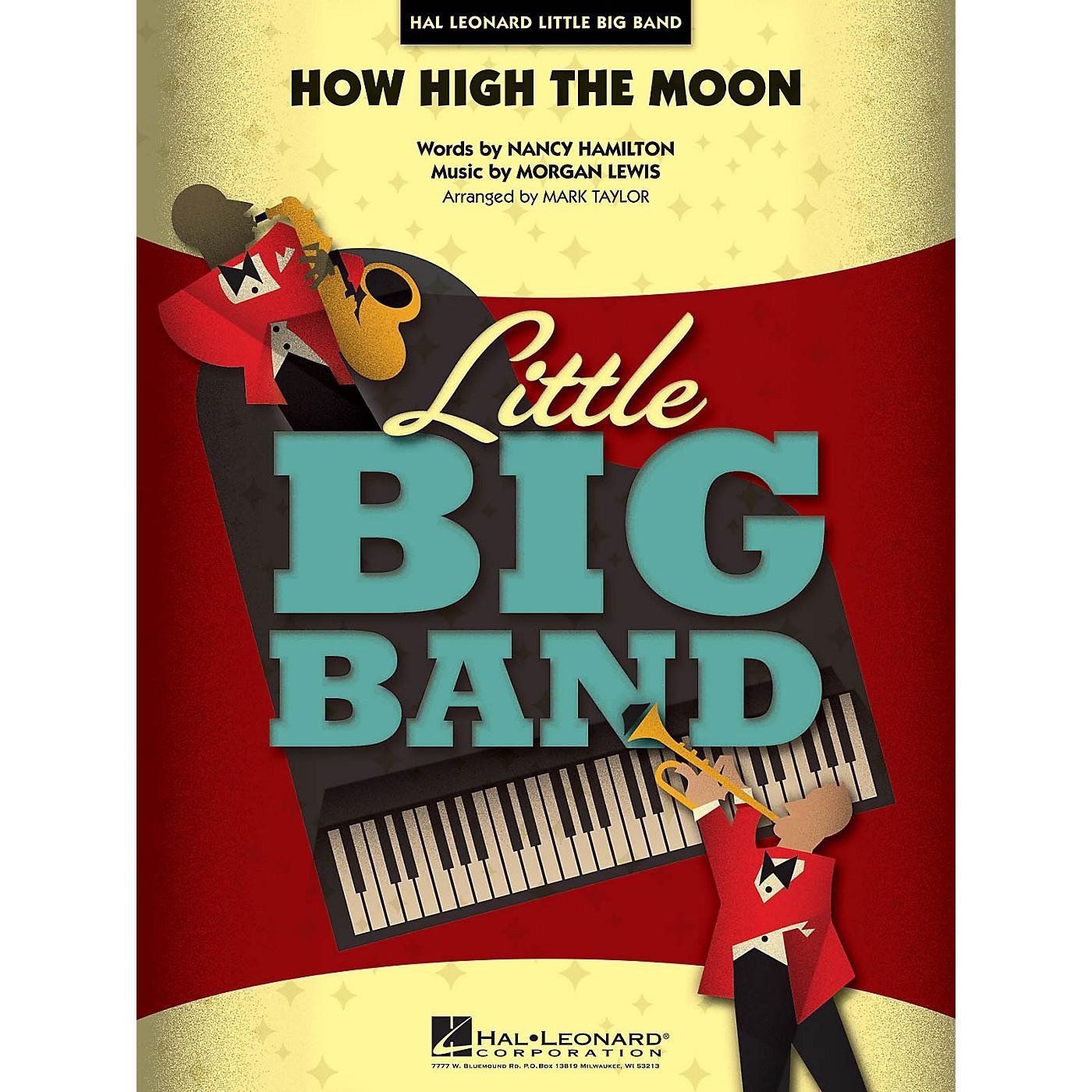 Hal Leonard How High the Moon Jazz Band Level 4 Arranged by Mark Taylor thumbnail