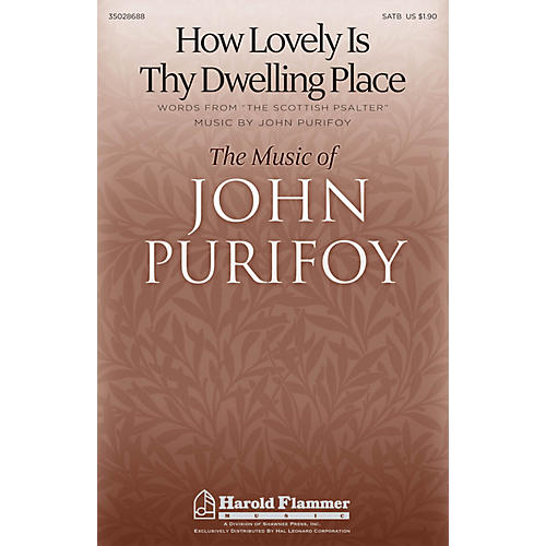Shawnee Press How Lovely Is Thy Dwelling Place SATB composed by John Purifoy thumbnail