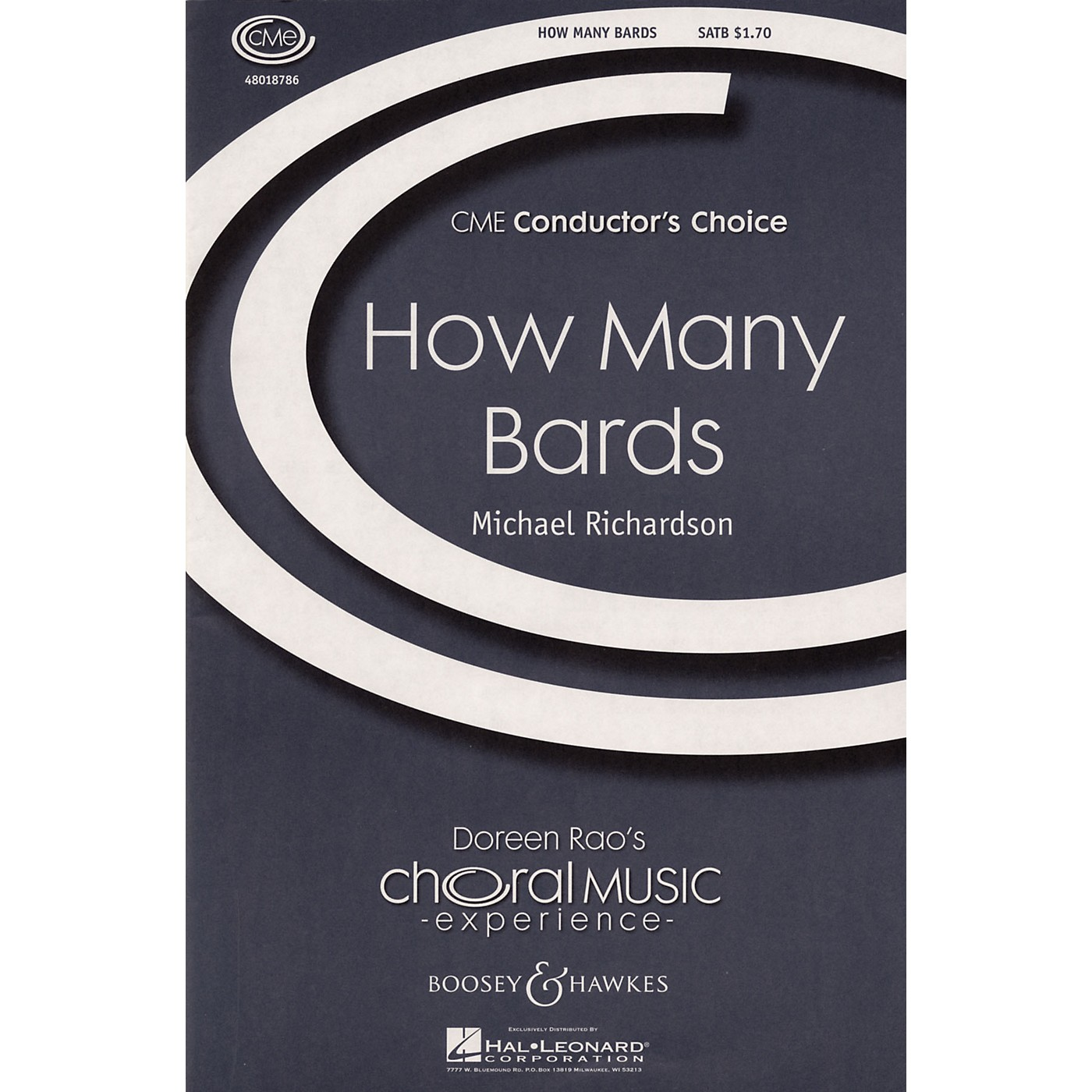 Boosey and Hawkes How Many Bards (CME Conductor's Choice) SATB composed by Michael Richardson thumbnail