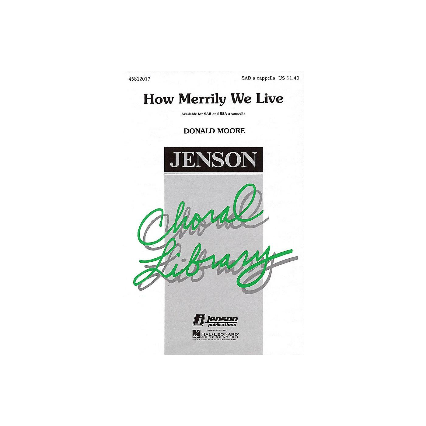 Hal Leonard How Merrily We Live SAB A Cappella arranged by Donald Moore thumbnail