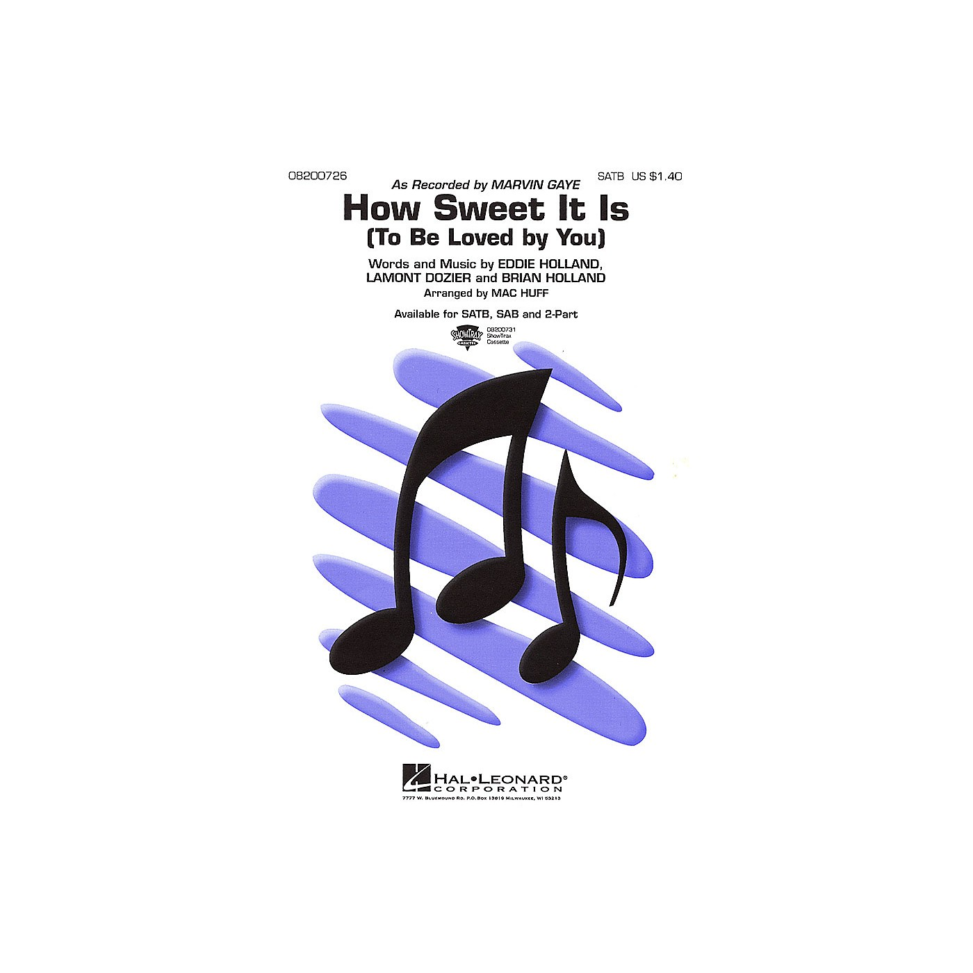 Hal Leonard How Sweet It Is (To Be Loved by You) 2-Part by Marvin Gaye Arranged by Mac Huff thumbnail