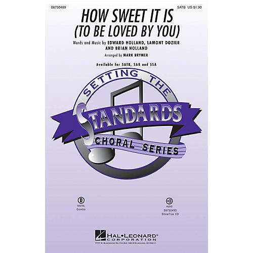 Hal Leonard How Sweet It Is to Be Loved by You SAB Arranged by Mark Brymer thumbnail